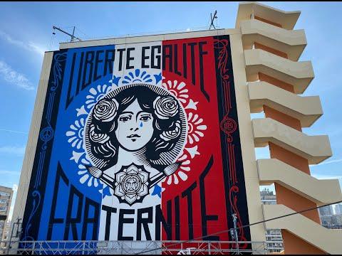 The Liberté - Marianne Pleure - Shepard Fairey (Obey)