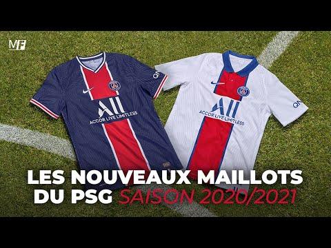 LE PSG DÉVOILE SES NOUVEAUX MAILLOTS POUR LA SAISON 2020-2021