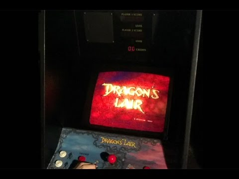 Dragon's Lair arcade game - Maximum 999,999 score